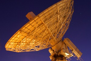 The 42ft Jodrell Bank telescope used to observe the young pulsar